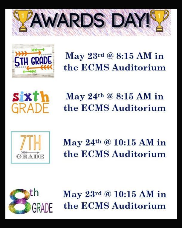 ECMS Awards Dates and Times