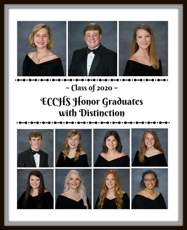 Our 2020 Honor Grads with Distinction!