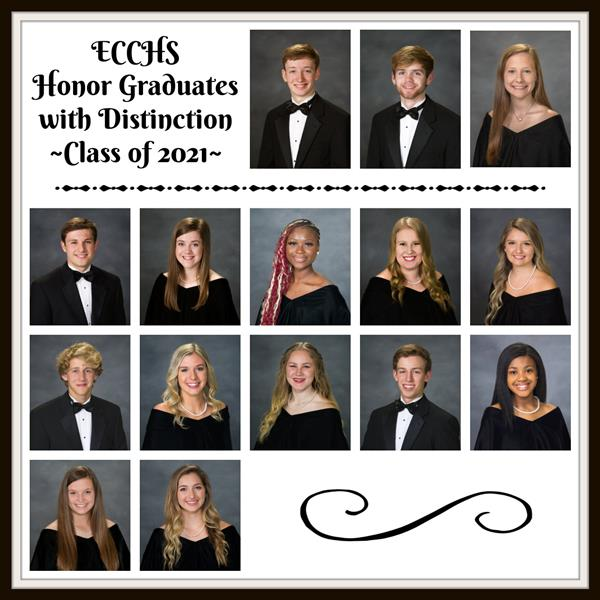 Our 2021 Honor Grads with Distinction!