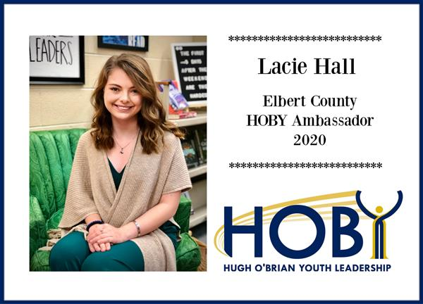 Lacie Hall is our 2020 HOBY Ambassador!