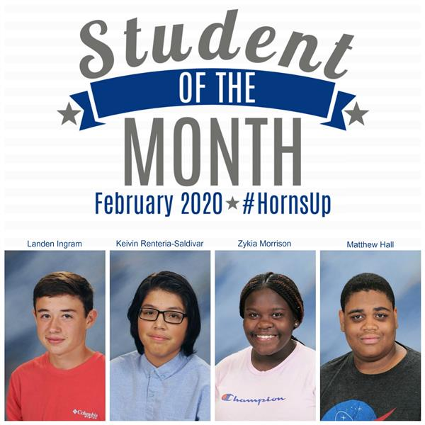 Feb. 2020 Academic Students of the Month