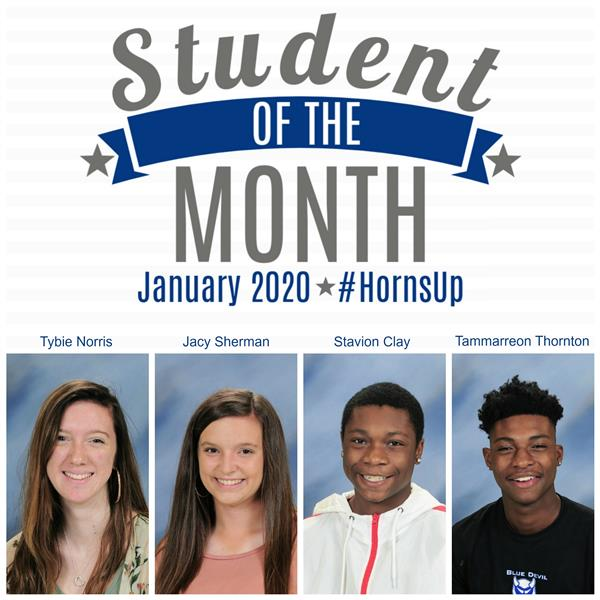 Jan. 2020 Academic Students of the Month